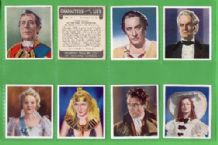 Tobacco Cigarette cards Cinema Flim Characters  set